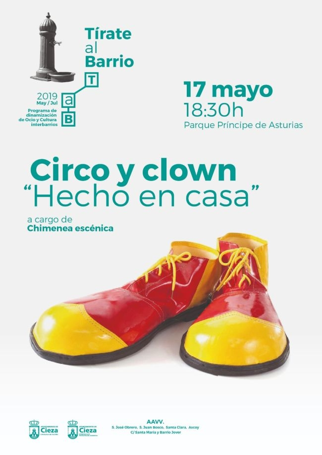 Tarde de Clown y circo en 'Tirate al barrio'