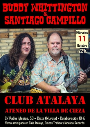 Buddy WhittIngton Y Santiago Campillo en el Club Atalaya