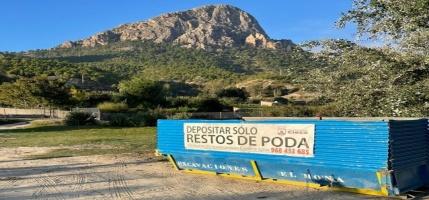 El Ayuntamiento de Cieza vuelve a instalar contenedores especiales para resto de poda